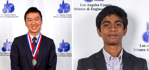 George Hou (left) and Sanath Devalapurkar, Intel STS Finalists