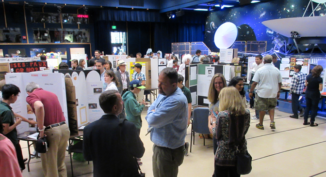 LA County Science Fair participants share their projects with JPL Scientists!